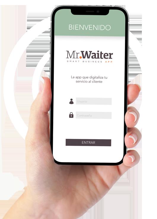 Mr Waiter en la palma de la mano