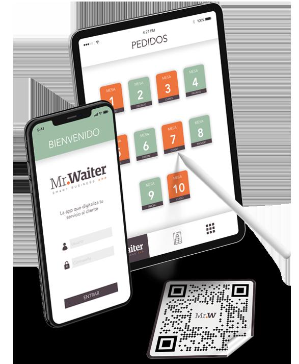 MrWaiter App para gestión de pedidos remotos en hostelería